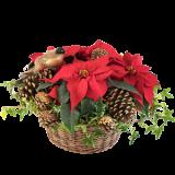 Rød julekurv